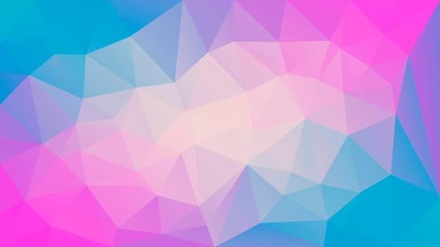 Abstrakter horizontaler dreieckhintergrund der steigung. gelbe, rosa und blaue polygonale kulisse für mobile anwendungen und web. trendiges geometrisches abstraktes banner. flyer zum technologiekonzept. mosaik-stil.
