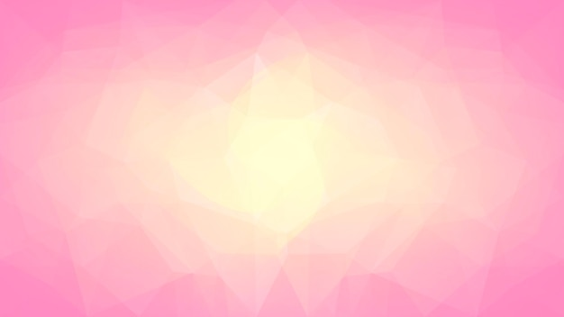 Abstrakter horizontaler dreieckhintergrund der steigung. warme rosa und gelbe polygonale kulisse für die geschäftspräsentation. trendiges geometrisches abstraktes banner. flyer zum technologiekonzept. mosaik-stil.
