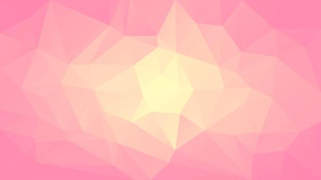 Abstrakter horizontaler dreieckhintergrund der steigung. warme rosa und gelbe polygonale kulisse für mobile anwendungen und das web. trendiges geometrisches abstraktes banner. flyer zum technologiekonzept. mosaik-stil.