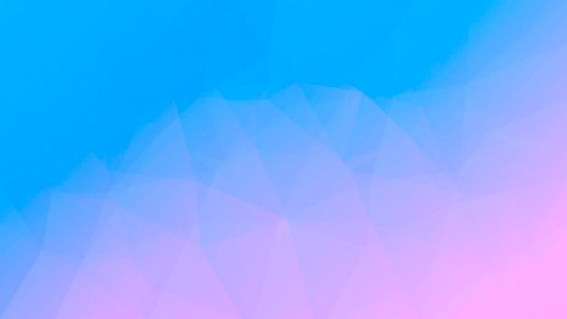 Abstrakter horizontaler dreieckhintergrund der steigung. zarte rosa und blaue polygonale kulisse für mobile anwendungen und web. trendiges geometrisches abstraktes banner. flyer zum technologiekonzept. mosaik-stil.