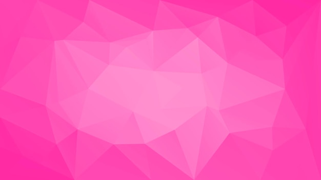 Abstrakter horizontaler dreieckhintergrund der steigung. zarter rosafarbener polygonaler hintergrund für mobile anwendungen und web. trendiges geometrisches abstraktes banner. flyer zum technologiekonzept. mosaik-stil.