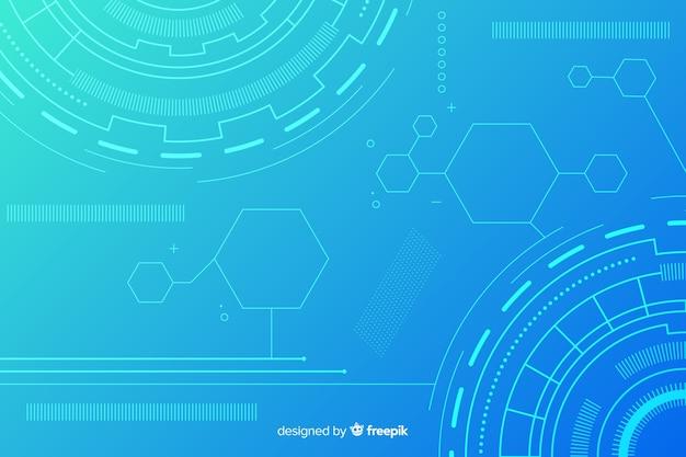 Abstrakter hud technologie-blauhintergrund