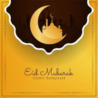 Abstrakter islamischer religiöser hintergrund des festivals eid mubarak