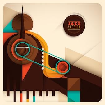 Abstrakter jazz-hintergrund