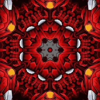 Abstrakter kaleidoskophintergrund. schöne mehrfarbige kaleidoskop-textur