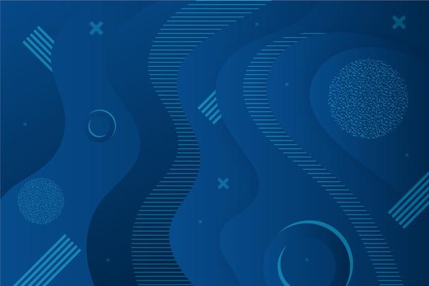 Abstrakter klassischer blauer hintergrund mit flüssigem effekt