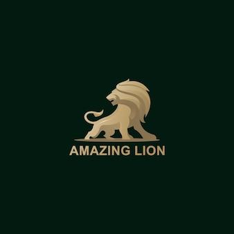 Abstrakter könig der löwen mit