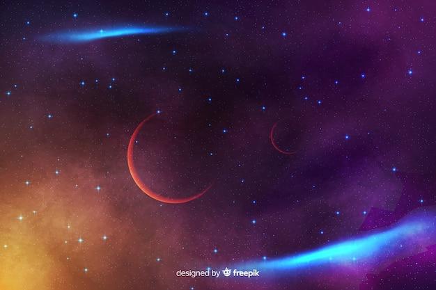 Abstrakter kosmischer hintergrund mit sternen