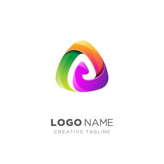 Abstrakter kreativer buchstabe ein logo