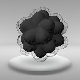 Abstrakter kreativer hintergrund von geometrischen formen die linien, die mit punkten verbunden sind. vektor-illustration.