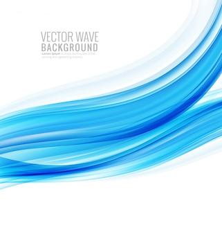 Abstrakter kreativer stilvoller blauer wellenhintergrund