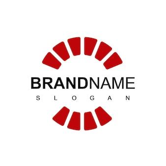Abstrakter kreis brick company logo design inspiration