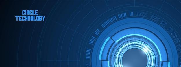 Abstrakter kreis digitale hintergrundlinsentechnologie überlappungsschicht lichteffekt-design-konzept