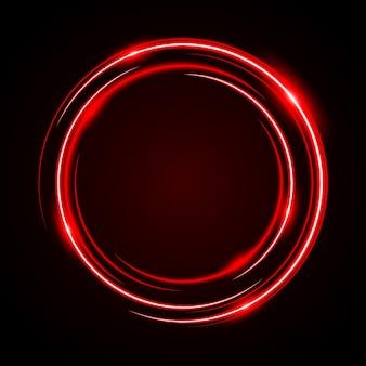 Abstrakter kreis-neonlicht-roter rahmen