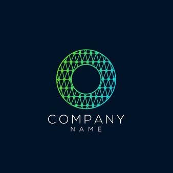 Abstrakter kreis und zeichen o-logo