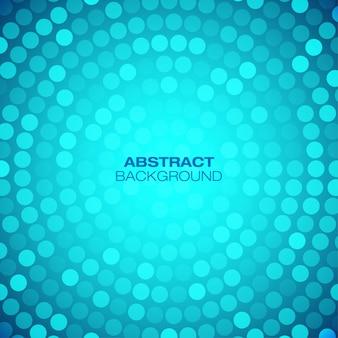 Abstrakter kreisförmiger blauer hintergrund. illustration
