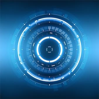 Abstrakter kreisförmiger hintergrund der futuristischen technologie.