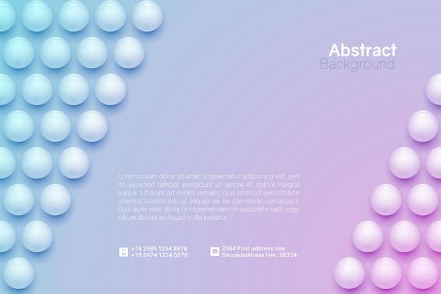 Abstrakter kreishintergrund. horizontale minimalistische bannervorlage.