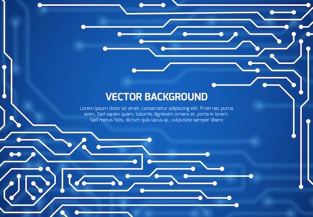 Abstrakter kybernetischer vektorhintergrund mit schaltungseinstieg