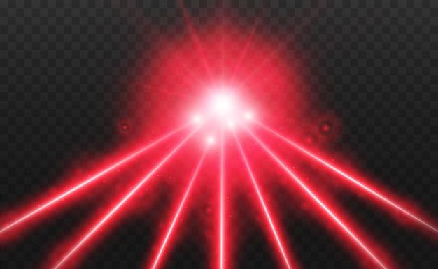 Abstrakter laserstrahl. transparent isoliert auf schwarzem hintergrund. illustration.