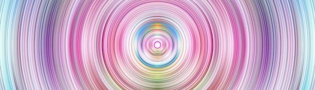 Abstrakter lebendiger kreis auf mehrfarbigem gradientenhintergrund