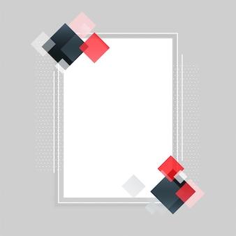 Abstrakter leerer rahmen mit textraum