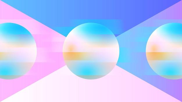 Abstrakter leuchtender ballhintergrund