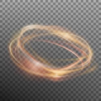 Abstrakter leuchtender ring. transparenter hintergrund nur in