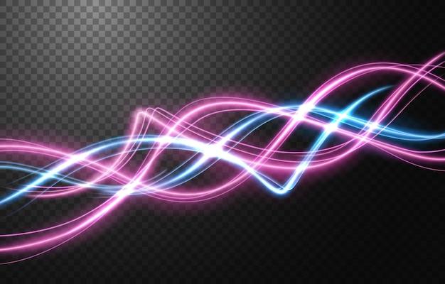 Abstrakter lichtgeschwindigkeitsbewegungseffekt, mehrfarbige lichtspur.
