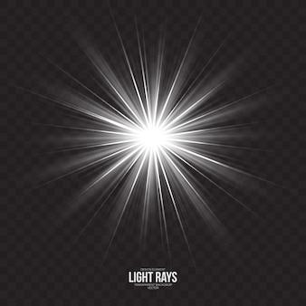 Abstrakter lichtstrahl-effekt-vektor-hintergrund