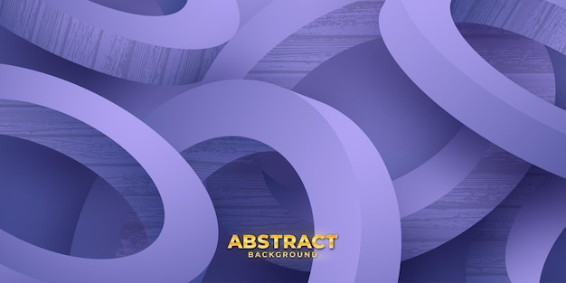Abstrakter lila 3d-kreis-vektor-hintergrund