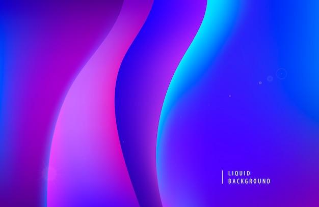 Abstrakter lila neonhintergrund. dynamische flüssigkeit prägt das moderne konzept.