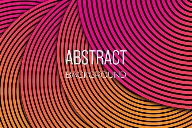 Abstrakter linienkreishintergrund moderner spiralkreis-hintergrund