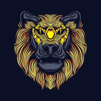 Abstrakter löwe gesicht barongsai