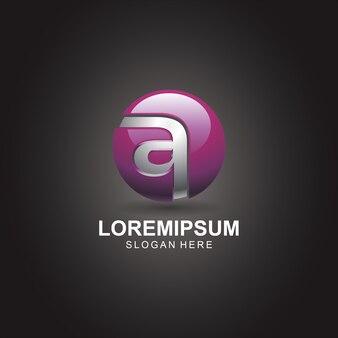 Abstrakter logo 3d buchstabe a
