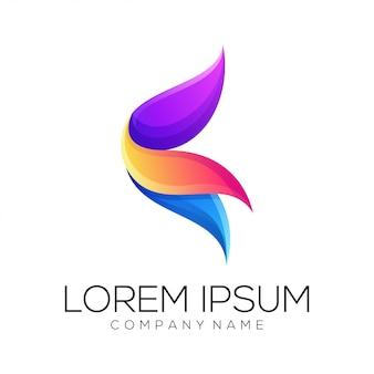 Abstrakter logodesignvektor der blume Premium Vektoren