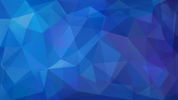 Abstrakter low-poly-hintergrund von dreiecken in blauen farben