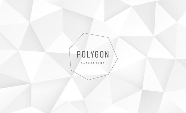 Abstrakter luxuriöser farbverlauf weiß und grau polygonales musterdesign geometrische dreieckige silberne farbe