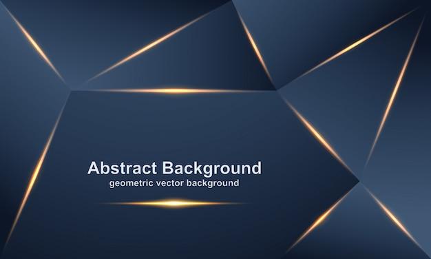 Abstrakter, luxuriöser, moderner, polygonaler vektorhintergrund.