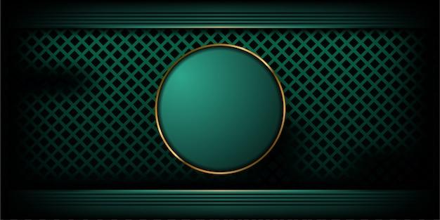 Abstrakter luxuriöser strukturierter dunkelgrüner hintergrund mit goldener linie