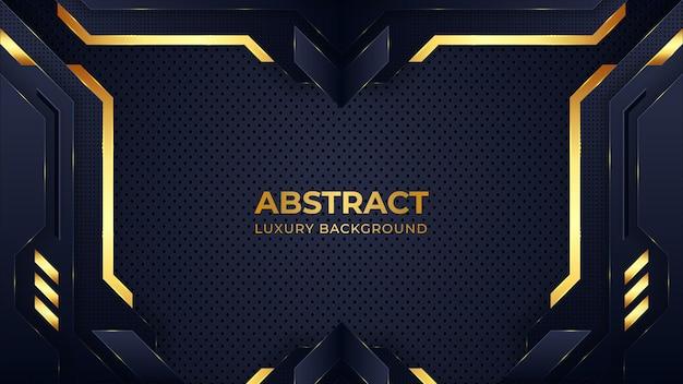 Abstrakter luxus dunkler hintergrund mit goldenen linien
