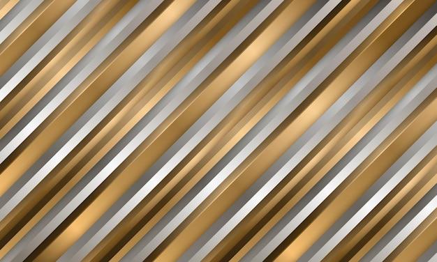 Abstrakter luxus gold und silber gestreifter hintergrund