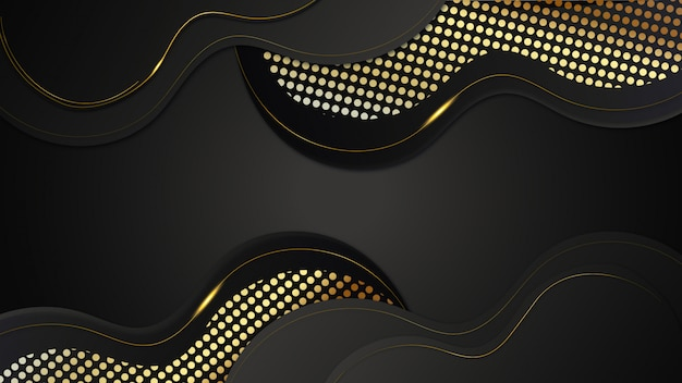 Abstrakter luxus golden dark background design