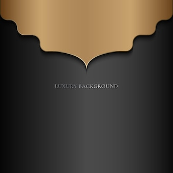 Abstrakter luxus-mandala-goldarabesken-oststil auf schwarzem hintergrund.
