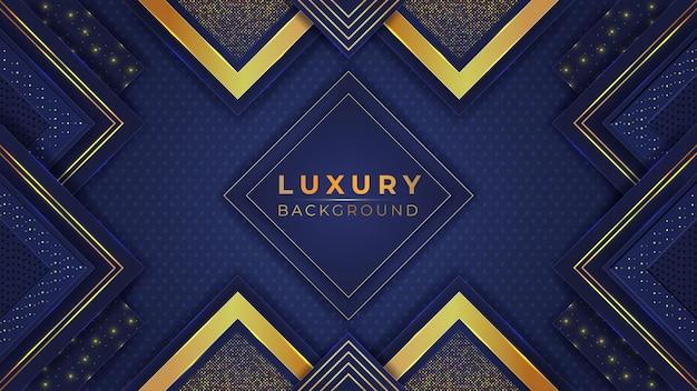 Abstrakter luxus mit goldenen formen, lichteffekt und geometrischen formen