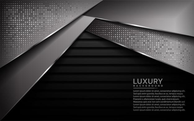 Abstrakter luxus mit modernem hintergrund der überdeckung