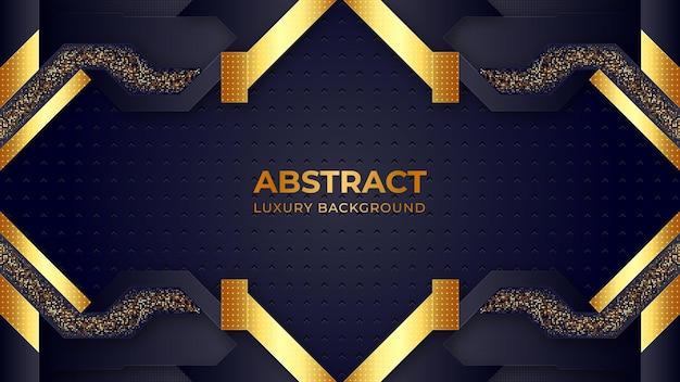 Abstrakter luxus premium schwarz und gold geometrischen hintergrund