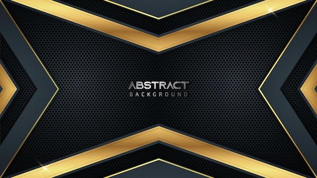 Abstrakter luxus-spielhintergrund mit goldenen linien und kopierraum für text