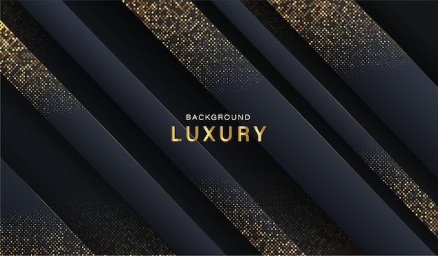 Abstrakter luxusgoldhintergrund. dunkler abstrakter futuristischer geometrischer hintergrund. lager .