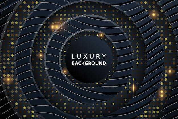 Abstrakter luxushintergrund 3d mit glühendem halbtonmuster